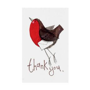 Alex Clark Robin Pack of 5 Christmas Thank You Cards